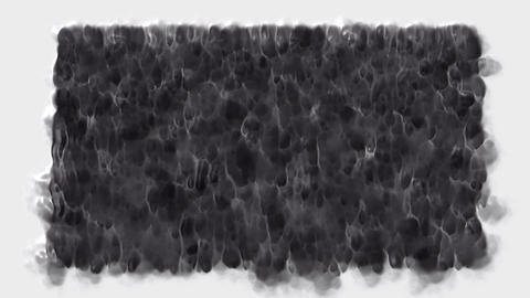 smoke and falling carbon liquid,waterfall and black... Stock Video Footage