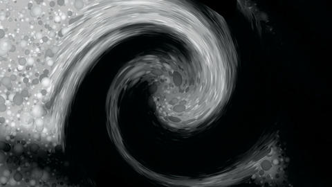 rotation particle and ink shaped stargate cyclones tunnel... Stock Video Footage