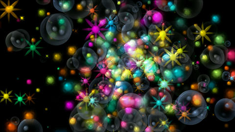 shine stars and soap bubbles,fireworks and waterdrop,falling particle chrismas b Animation