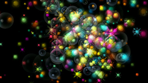 shine stars and soap bubbles,fireworks and... Stock Video Footage