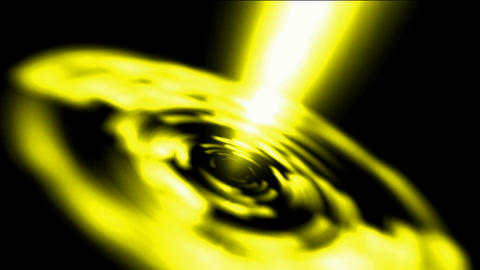 dazzling golden laser rays light in Milky Way,power energy tunnel ripple launch  Animation