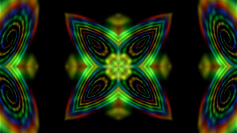 disco flower pattern and rays laser light as music... Stock Video Footage