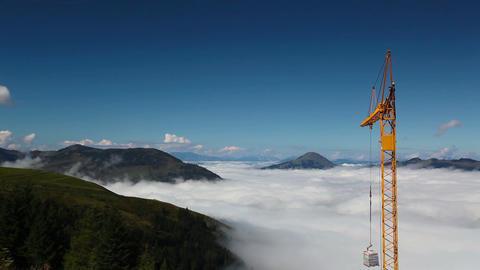 Construction crane Footage