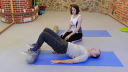 Personal fitness training. Physiotherapy of musculoskeletal Footage