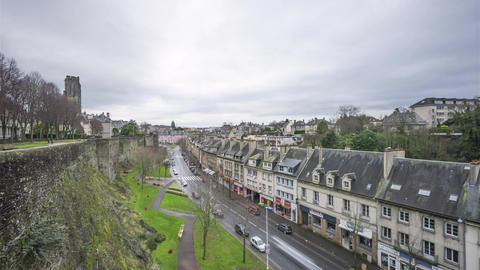 Saint-Lo, France - Timelapse - Rue Torteron Live Action