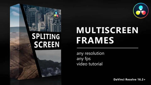 Multiscreen Frames Macros for DaVinci Resolve