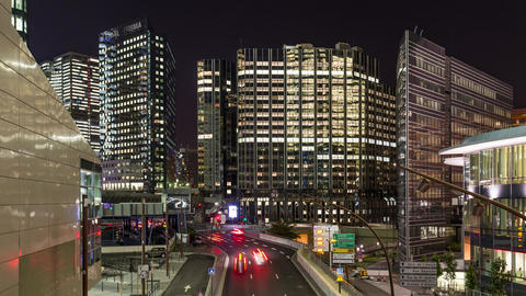 Paris, France - Timelapse - La Defense by Night Footage