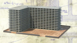 architectural model of an apartment building ,Animation, 3d Animation