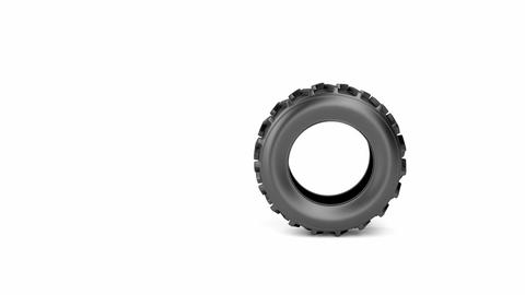 Tractor tire Stock Video Footage