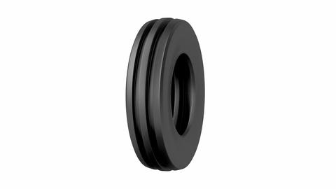Aircraft or tractor tire Animation