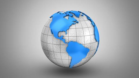 World Map Turns Into a Globe Animation