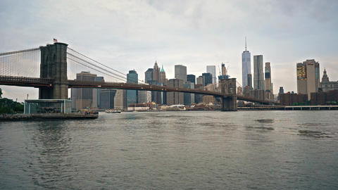 New York City , USA, Video - New York City from Maint Street Park Footage
