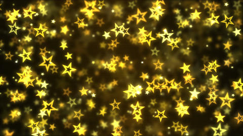 Falling Star Shapes Background Animation - Loop Golden Animation