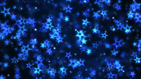 Falling Star Shapes Background Animation - Loop Blue Animation