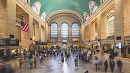 4K timelapse sequence shot in the iconic train station of New York City Footage