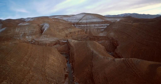Aerial, Gorge Du Dades, Dades Gorge, Morocco Footage