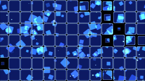 Glowing Tiles and Squares Background Animation - Loop Blue Animation