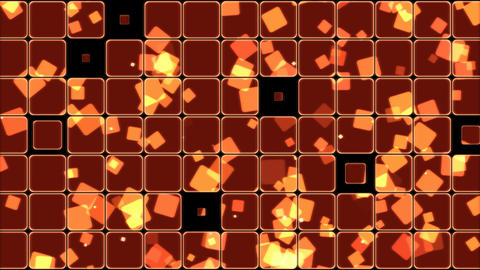 Glowing Tiles and Squares Background Animation - Loop Red Animation