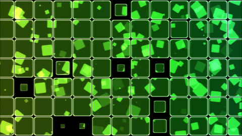 Glowing Tiles and Squares Background Animation - Loop Rainbow Animation