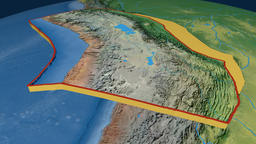 Altiplano tectonic plate. Topography Animation