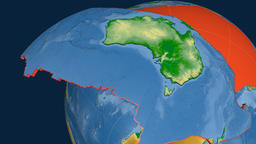 Australia tectonic plate. Physical Animation