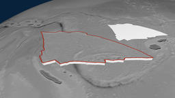 Balmoral Reef tectonic plate. Elevation Animation