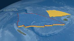 Balmoral Reef tectonic plate. Satellite imagery Animation