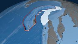 Burma tectonic plate. Elevation and bathymetry Animation