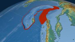Burma tectonic plate. Relief Animation