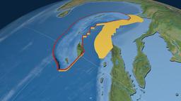 Burma tectonic plate. Satellite imagery Animation
