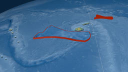 Futuna tectonic plate. Relief Animation