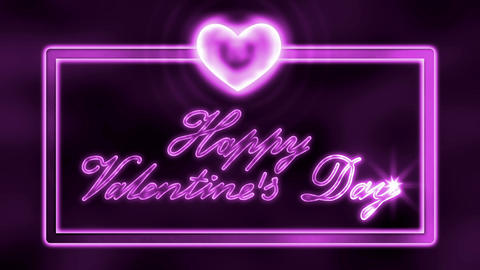 Happy St. Valentine's Day Loopable (Seamless) Animation Animation