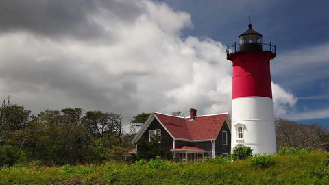 Nauset Light Lighthouse in Eastham Footage