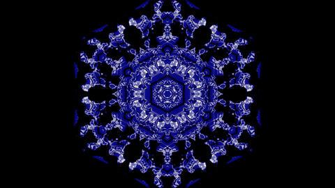 Kaleidoscopic flower vj seamless loop Animation