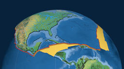 North America tectonic plate. Natural Earth Animation
