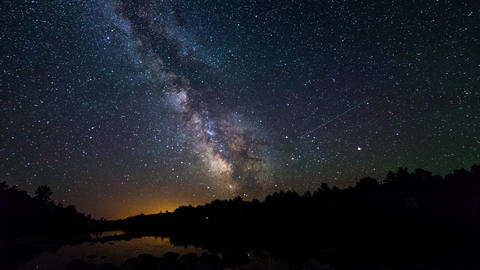 French River Provincial Park, Canada, Timelapse - The Milky Way Footage