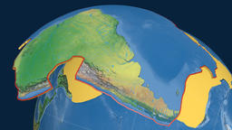 South America tectonic plate. Natural Earth Animation