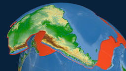 South America tectonic plate. Physical Animation
