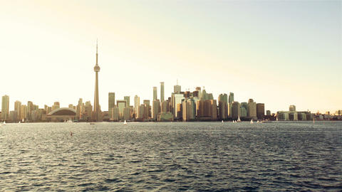 Toronto, Canada, Video - Toronto during the Golden Hour Footage