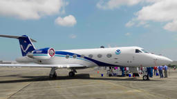 Hurricane Hunter Gulfstream IV Footage