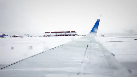 Plane Takeoff In Snow Footage