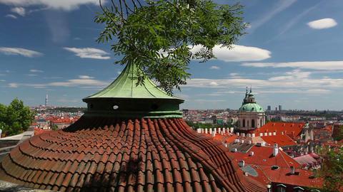 Garden of Paradise near Prague Castle Footage