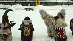 Kukeri Bulgarian mummers' masks Footage