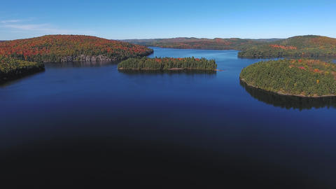 Algonquin Provincial Park , Canada, Video - Lakes and Islands in Algonquin Provi Footage