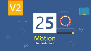 25 Motion Graphic Elements Version 2 After Effects Project