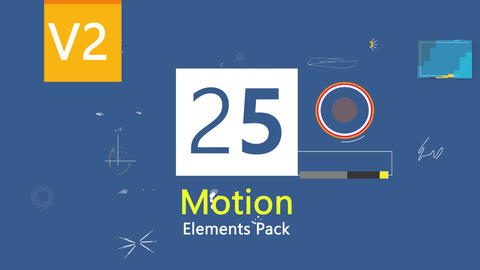 25 Motion Graphic Elements After Effects Template