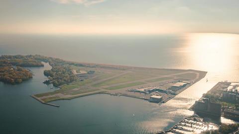 Toronto, Canada, Timelapse - Billy Bishop Toronto City Airport Footage