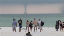 Waterspout - tornado at sea Filmmaterial
