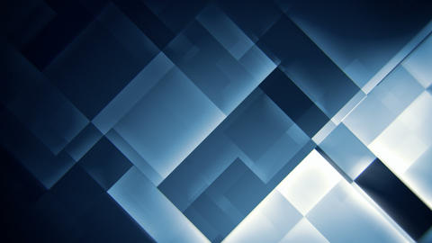 Glowing blue squares abstract motion background seamless loop Animation