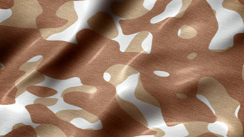 Desert camouflage pattern abstract motion background seamless loop Animation